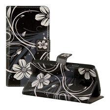 SLL Wallet Case per Samsung Galaxy s4 Active fiori Swirl BIANCO GUSCIO FLIP