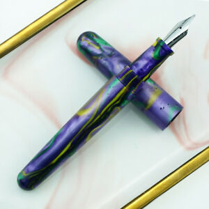 Fuliwen 017 Resin Fountain Pen Big Size with Silver Snake Ring M Nib Gift Pen