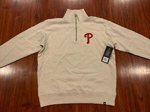 '47 Brand Mens Philadelphia Phillies 1/4 Zip Stateside Striker Jacket Large L