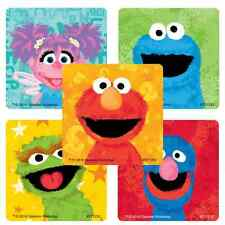 """25 Sesame Street Chalk Drawing Stickers, 2.5""""x2.5"""" ea., Party Favors"""