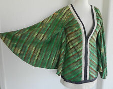 Nuvula (Wear Your Imagination) Cape Large Wing Sleeve Cotton Multi-Color Size M