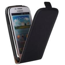 Samsung i8260 i8262 Galaxy Core - Housse Etui à Clapet Slim Noir - Phonit