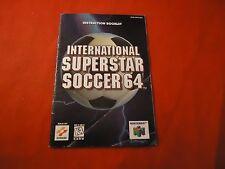 International Superstar Soccer 64 Nintendo 64 N64 Instruction Manual Booklet