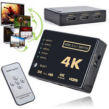3D 1080p 5Port HDMI Switcher Selector Splitter Hub+ Remote Control + IR For HDTV