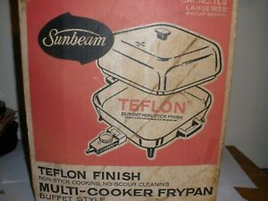 VINTAGE SUNBEAM MULTI-COOKER BUFFET STYLE ELECTRIC FRY PAN No# TLB NIB