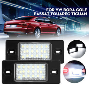 2pcs 12V LED License Plate Lights 1J5943021D For VW Bora Golf Passat B5.5