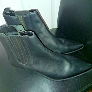 NEW Silver Street Carnaby Black Leather Mens Chelsea COWBOY Boots RRP £70 11 UK