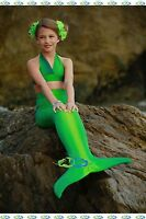 THE2TAILS™  Catalina Sea Green Swimmable Mermaid Tail Affordable with Fin