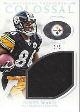 2016 National Treasures Colossal Jersey Prime Holo Silver #19 Hines Ward /5