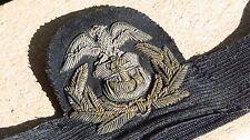 WWII US MERCHANT MARINE GARRISON CAP BADGE USMS WW2 Bullion