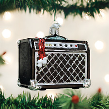 Guitar Amp Old World Christmas Glass Ornament NWT mouth blown glass