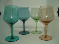 Harlequin Red / White wine glasses Set of 4; Sell For charity