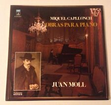 Juan Mol - Miquel Caplonch Lp Made In Spain- Obras Para Piano LP