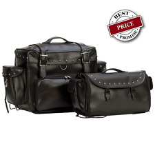 MOTORCYCLE TRUNK & BARREL BAG FOR HONDA Black Heavy Duty w/Handles Waterproof