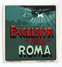 Hotel luggage label Excelsior Hotel Rome - Large, Varnish, MINT