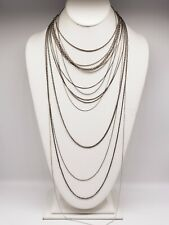 VINTAGE & MODERN LOT OF 15 STERLING SILVER .925 CHAIN NECKLACES #003