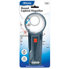 "NEW 2.5"" Round 3X Lighted Magnifier, Teachers Magnifier, Home scholars Magnifier"