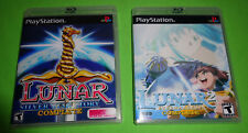 Empty Custom Replacement Cases! LUNAR SILVER STORY Eternal Blue PS1 PS2 PS3