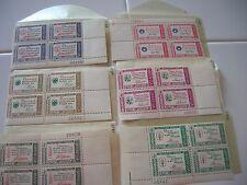 US Stamps - 1960 PATRIOTIC CREDO'S 4-BLOCKS MNH 4 CENT SCOTT'S 1139-1144
