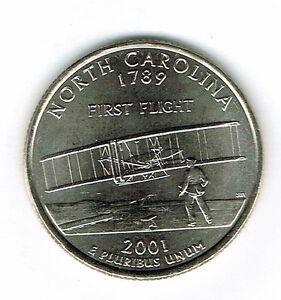 2001-P Philadelphia Uncirculated to AU North Carolina 12TH State Quarter Coin!