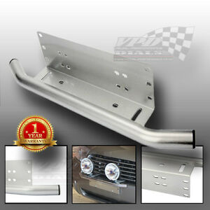 Number plate light bar spot /fog light led front bumper mounting bracket