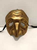 Tartaglia - Maschera veneziana naso lungo carnevale artigianale in cartapesta