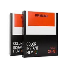 2x Impossible für Polaroid SX 70 SX70 Color Farbfilm Sofortbildfilm Sofortbild