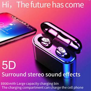 True Wireless Bluetooth 5.0 Ear Buds Earphones with 2200mAh Charge Box