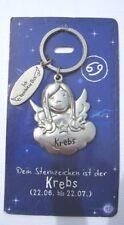 Schutzengel Sternzeichen Krebs Schlüsselanhänger Keychain NEU (A51v)
