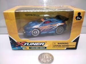 X Tuner / 2000s Toyota Celica T230 - Street Modified - Blue - Model Car