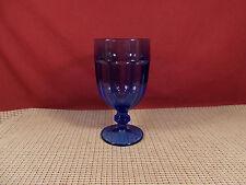 "Libbey Crystal Gibraltar Antique Blue Iced Tea Goblet 7"""