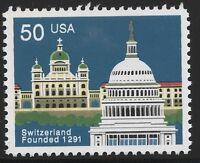 US Scott #2532, Single 1991 Switzerland 50c VF MNH