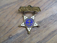 Civil War 1910 US Navy Naval Veterans National Encampment GAR ? Medal Badge Pin