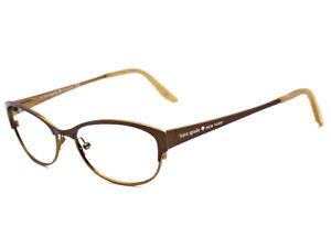 Kate Spade Eyeglasses Camelot 0JUV Satin Brown Full Rim Metal Frame 50[]15 135