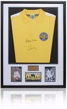 Peter Lorimer & Alan Clarke Hand Signed Leeds United Shirt AFTAL Photo Proof COA