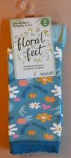 1 PAIR SEASALT BAMBOO WOMENS FLORAL FEET SOCKS SIZE 3-8 UK PEEPING DAISY MINERAL