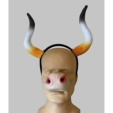 Cattle Horns  And Cow Nose Longhorns Costume Accessory