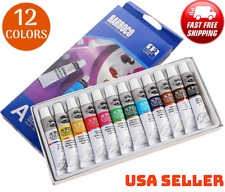 Acrylic Paint Colors Set of 12, Acrylic Paints Pigment for Artists for Painting