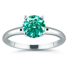 3.36ct vvs1/NATURAL BLUE GREEN REAL MOISSANITE DIAMOND.925 Sterling SILVER RING