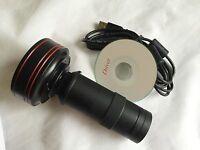 New 5.0MP HD USB Digital Industry Microscope Camera + C-mount Glass Lens