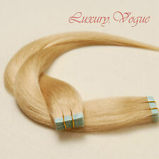 40Pcs Full Head 3M Tape-in Extensions 100% Human Hair Remy #24 (Golden Blonde)