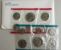 1979 Annual Uncirculated P and D US Mint Set 12 Coins with Susan B Anthony $1