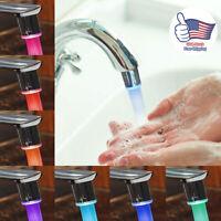 7Colors Changing Temperature Sensor LED Light Glow Water Faucet Stream Tap Decor