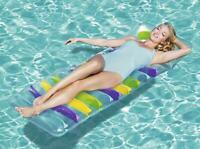 BESTWAY DELUXE LILO RELAXING SWIMMING POOL MAT BED LOUNGER FLOAT INFLATABLE
