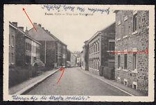 AK Eupen Hütte Hutte ? Weg zum Wetzlarbad Strasse Häuser Belgien gelaufen 1950