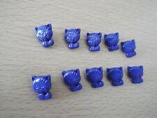 10 x Cute Royal Blue Cat Baby Novelty Plastic Shank Buttons E92