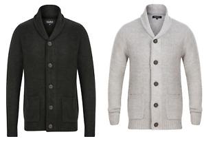 Mens Knitted Cardigan Jumper EX STORE Pull & Bear Wool Blend Winter Warm Top