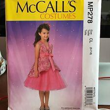 McCalls MP278 Girls princess beauty queen costume w/wings size 6-8 Halloween