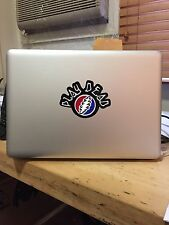 Grateful Dead style vinyl Macbook sticker (light-up)