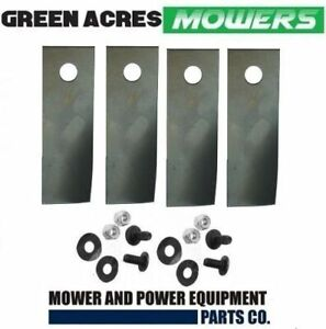 """4 X HARDENED ROVER BLADES AND BOLTS   A01118/627K  FIT SELECTED 18 AND 20"""" CUT"""